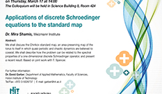Application of discrete Schroedinger equations to the standard map