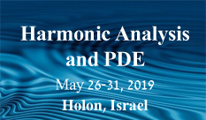 The 18th Harmonic Analysis and PDE International conference 2019 at HIT