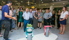 Special event for HIT's Design Supporters  was held at the graduates' exhibition