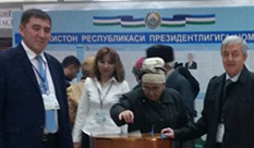 Prof. Eduard Yakubov at Uzbekistan presidential election
