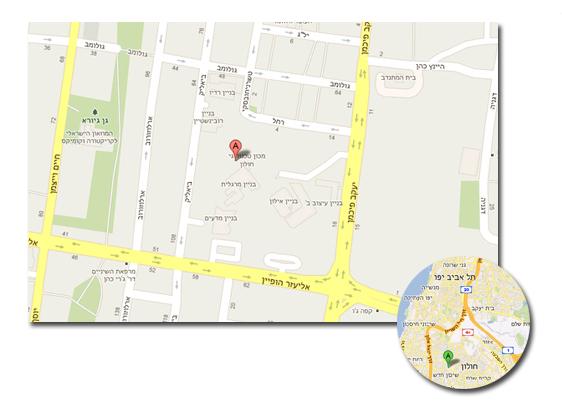 מפת אזור המכון