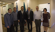Mr. Murod M. Gulyamov, Second secretary at the Embassy of Uzbekistan in Israel, visited HIT.