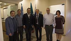 המזכיר השני בשגרירות אוזבקיסטן בישראל  בביקור רשמי ב -HIT