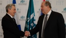 The President of Armenia visited HIT and signed an MOU