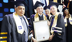 Lifetime Achievement Award and Honorary Degrees at 2019 Graduation Ceremony