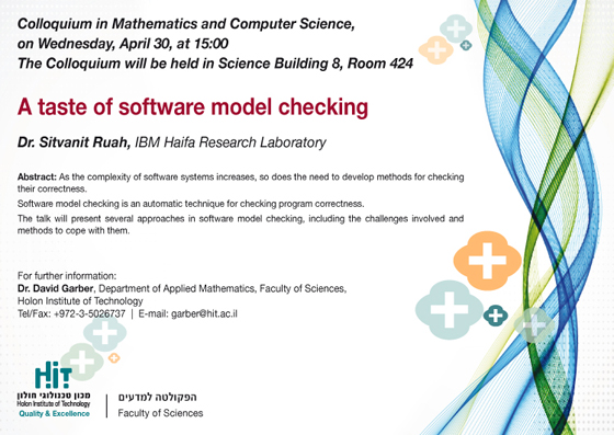 A taste of software model checking 30.4.14