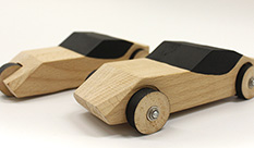 """Our Car""- Toy cars exhibition at the ""Vitrina"" gallery in the Industrial Design Department."