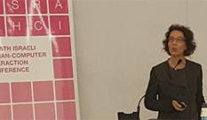 המסטרנטית גילי בריקס הציגה פרויקט בכנס למחקר באינטראקציית אדם מחשב