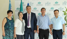 A delegation of academia leaders from Uzbekistan visited HIT
